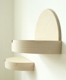 Hide away shelf