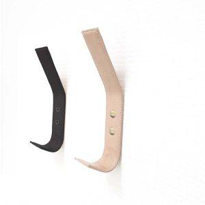 Læderknage knage sort læder naturlæder entre